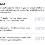 Facebook Lists
