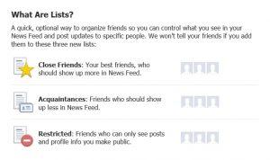 Facebook Lists