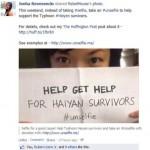 Typhoon Haiyan unselfie
