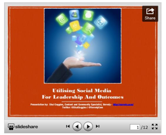 Utilising Social Media for Leadership and Outcomes [Slide Deck]